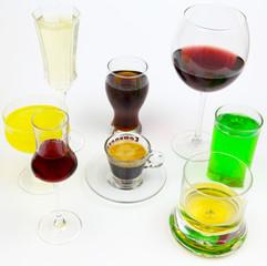Viele Getränke