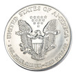 Silver one dollar coin