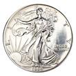 Silver one dollar coin