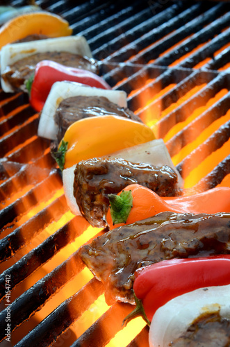 Grilling Kabob with Fire