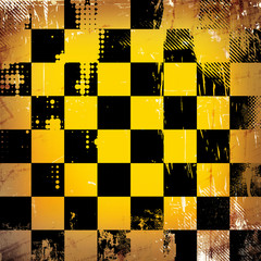 Grunge chessboard background