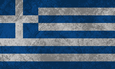 Greek Flag Grunge