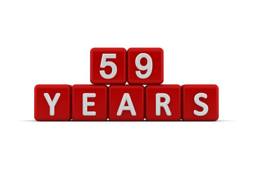 Red letter cubes 59 years