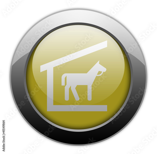"Yellow Metallic Orb Button ""Stable"""