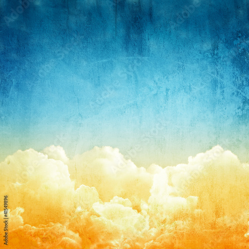 Fridge magnet cloudscape