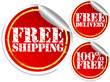 Free shipping, free delivery and 100 percent free stickers