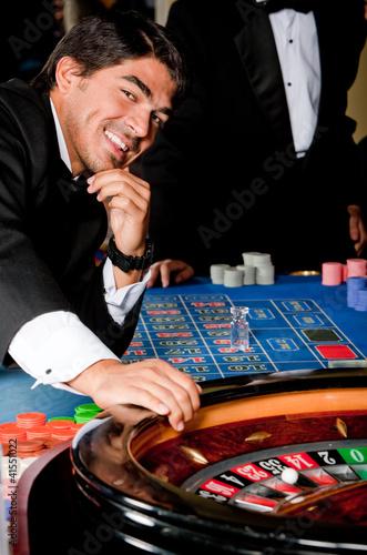 Man in a casino