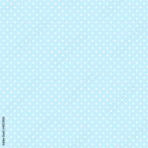 Seamless Pattern Dots Blue/White - 41551803