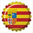 Capa botella bandera Aragon