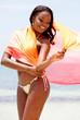 Black woman with a sarong