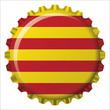 Chapa botella bandera Cataluña