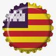 Chapa boterral bandera Islas Baleares
