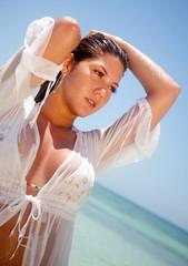 Sexy beach woman