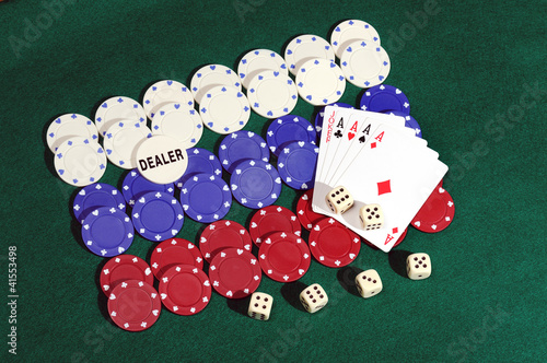 poker chips forming the Russia flag