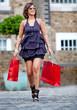 Shopping woman outdoors