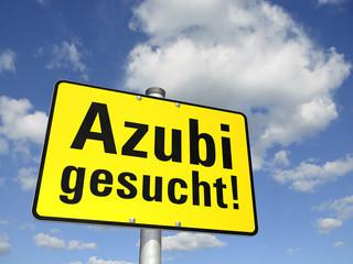 Schild Azubi gesucht!