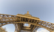 Upward view of Eiffel Tower in Paris