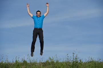 Business man jump