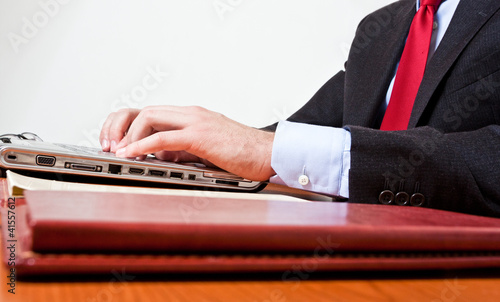 Worker using a laptop