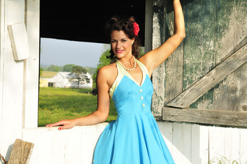 country farm pin up girl