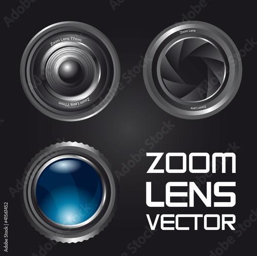 zoom lens vector