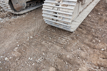 Equipment Tracks in Dirt