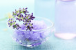 Lavender salt with aromatherapy oil