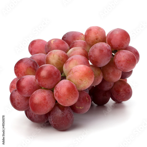 Perfect bunch of red grapes