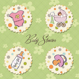 new baby girl items set poster