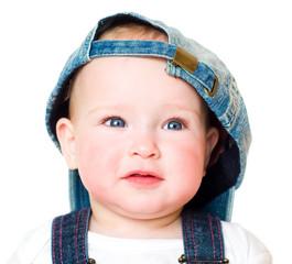 kid in a jeans cap