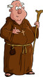 Cartoon monk
