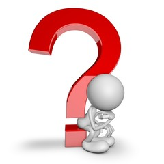 3d people - Question mark thinker
