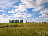 a distant shot of stonehenge