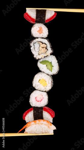 Maxi sushi, isolated on white background - 41566608