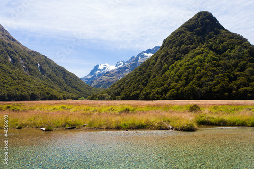 Humboldt Mountains seen from Routeburn Track, NZ