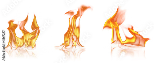 Flame tongues, isolated on white background