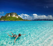 Tropical beach, snorkeling