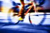 cyclist motion blur