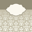 Card Pattern Flowers/Leafs Damask