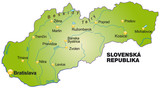 Overviewmap of Slovakia in green