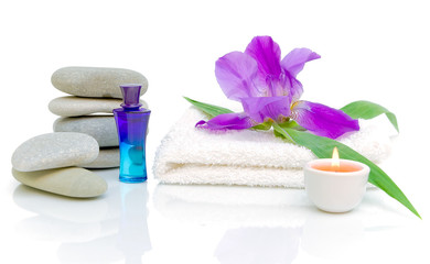 Spa composition on white background