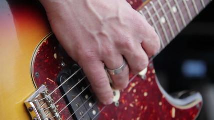 Guitarist at concert