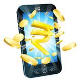 Rupee money phone concept