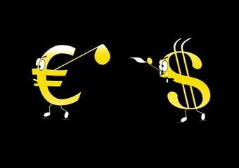 Euro, dollar.
