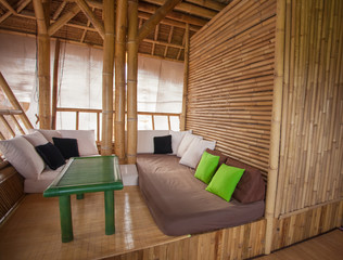 bamboo sitting area