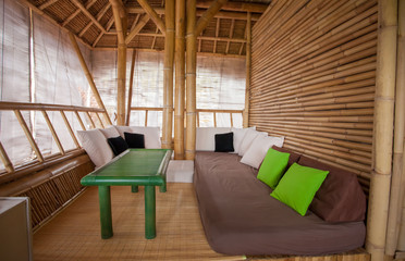 bamboo sitting area