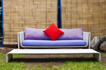 outside sofa