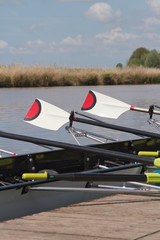 sculls, waiting to be used