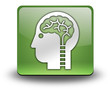 "Green 3D Effect Icon ""Neurology"""