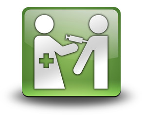 "Green 3D Effect Icon ""Immunizations"""